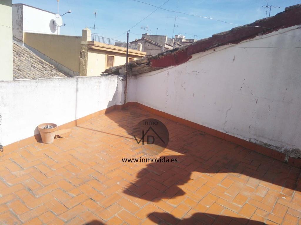 terraza casa en zona san jaime inmovida xativa